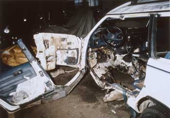 OPD photo of Judi Bari's bombed car